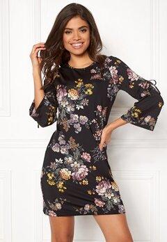 Happy Holly Melinda dress Black / Patterned Bubbleroom.dk