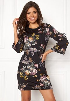 Happy Holly Melinda dress Black / Patterned Bubbleroom.dk