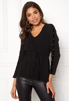 Happy Holly Michaela blouse Black Bubbleroom.dk