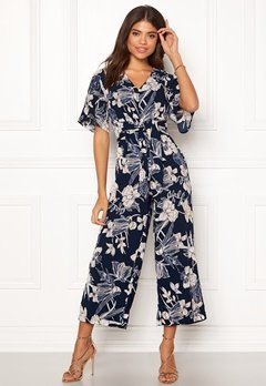 Happy Holly Michelle Jumpsuit Dark blue / Patterned Bubbleroom.dk