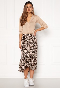 Happy Holly Michelle skirt Leopard Bubbleroom.dk