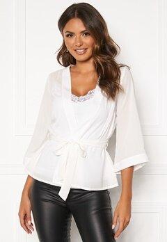 Happy Holly Milla kimono blouse Offwhite Bubbleroom.dk