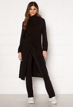 Happy Holly Milla long sweater Black Bubbleroom.dk