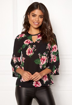 Happy Holly Miranda blouse Black Bubbleroom.dk