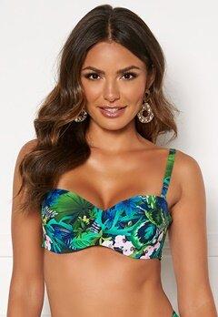 Happy Holly Naomi bikini wire bra Green / Patterned Bubbleroom.dk