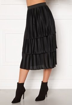 Happy Holly Naomi pleated skirt Black Bubbleroom.dk