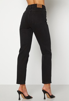 Happy Holly Natalie straight leg jeans Black denim Bubbleroom.dk