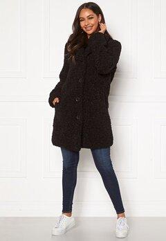 Happy Holly Nicole teddy coat Black Bubbleroom.dk