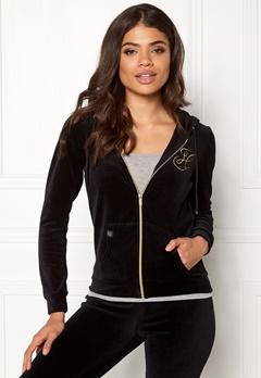 Happy Holly Nicole velour jacket Black Bubbleroom.dk