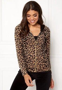 Happy Holly Nicole velour jacket Leopard Bubbleroom.dk