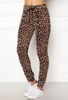 Happy Holly Nicole velour pants Leopard Bubbleroom.dk