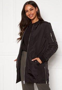 Happy Holly Noelle long bomber jacket Black Bubbleroom.dk