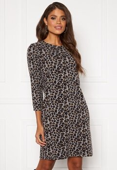 Happy Holly Nora cosy dress Leopard Bubbleroom.dk