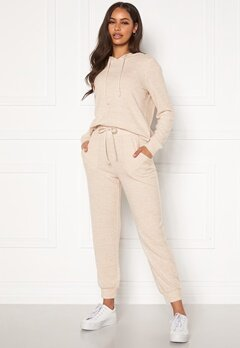 Happy Holly Nora cosy pants Light beige / Melange Bubbleroom.dk
