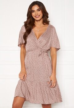 Happy Holly Olivia dress Dusty pink / Offwhite Bubbleroom.dk