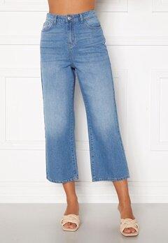 Happy Holly Pamela wide leg culotte jeans Medium denim Bubbleroom.dk