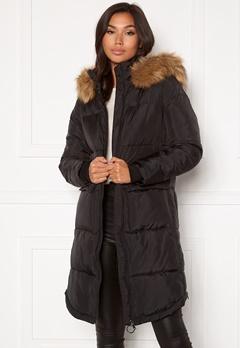 Happy Holly Patricia padded jacket Black Bubbleroom.dk
