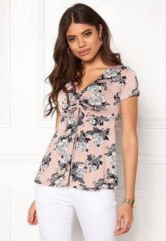Happy Holly Paulina top Light pink / Patterned Bubbleroom.dk