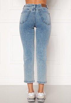 Happy Holly Peggy straight leg jeans Light denim Bubbleroom.dk
