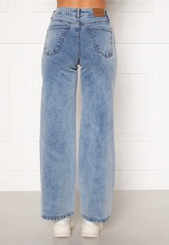 Happy Holly Peggy wide leg jeans Light denim Bubbleroom.dk