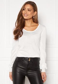 Happy Holly Pembe sweater White Bubbleroom.dk