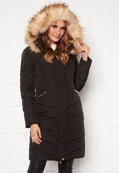 Happy Holly Rachel long jacket Black Bubbleroom.dk