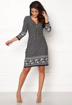 Happy Holly Renata dress Black / Offwhite Bubbleroom.dk