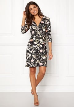 Happy Holly Renata dress Black / Patterned Bubbleroom.dk
