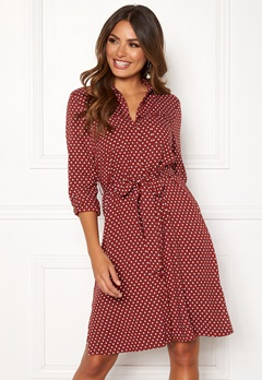 Happy Holly Ronja ls shirt dress Dotted Bubbleroom.dk