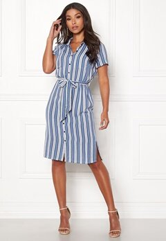 Happy Holly Ronja shirt dress Striped Bubbleroom.dk