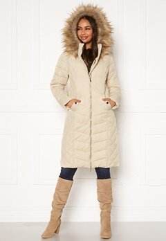 Happy Holly Sadie long jacket Beige Bubbleroom.dk