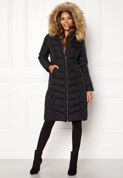 Happy Holly Sadie long jacket Black Bubbleroom.dk