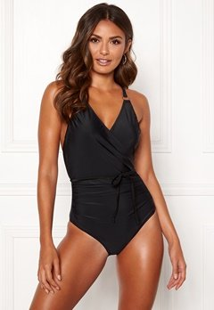 Happy Holly Salma swimsuit Black Bubbleroom.dk
