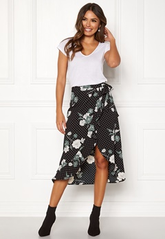 Happy Holly Sandie skirt Black / Patterned Bubbleroom.dk