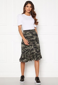 Happy Holly Sandy frill skirt  Camouflage Bubbleroom.dk
