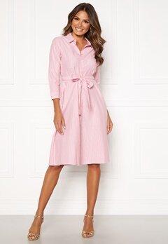Happy Holly Sanna shirt dress Pink / Striped Bubbleroom.dk