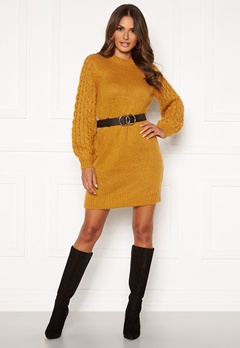 Happy Holly Sara long sweater Dark yellow Bubbleroom.dk