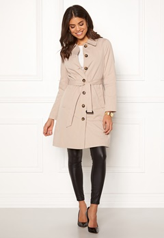 Happy Holly Scarlett coat Light beige Bubbleroom.dk