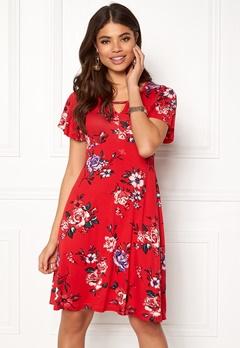 Happy Holly Scarlett dress Red / Patterned Bubbleroom.dk