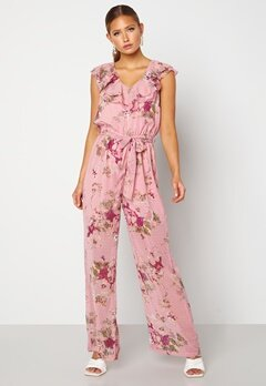 Happy Holly Scarlett Jumpsuit Pink / Floral Bubbleroom.dk