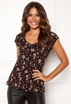 Happy Holly Scarlett top Black / Patterned Bubbleroom.dk