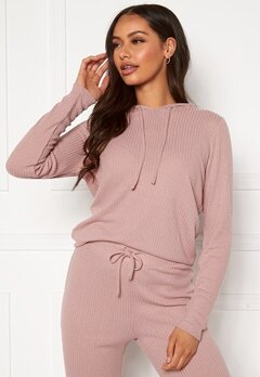 Happy Holly Selena cosy hood Dusty pink Bubbleroom.dk