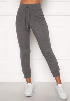 Happy Holly Selena cosy pants Grey melange Bubbleroom.dk