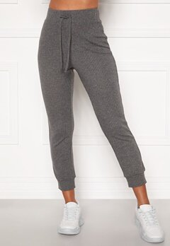 Happy Holly Selena cosy pants Grey melange Bubbleroom.dk