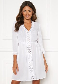 Happy Holly Sienna beach tunic White Bubbleroom.dk