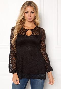 Happy Holly Simone lace top Black Bubbleroom.dk