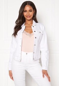 Happy Holly Skyler denim jacket White Bubbleroom.dk