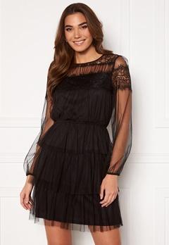 Happy Holly Smilla ls mesh dress  Black bubbleroom.dk