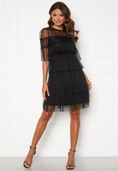 Happy Holly Smilla mesh dress Black Bubbleroom.dk