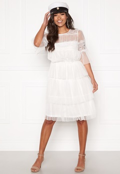Happy Holly Smilla mesh dress White Bubbleroom.dk